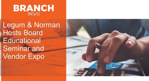 Legum & Norman Hosts Board Educational Seminar and Vendor Expo