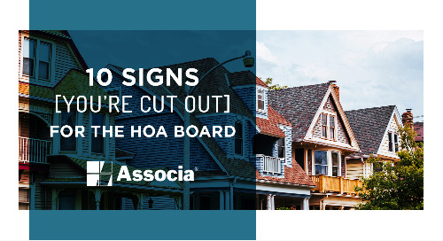 10 Signs You're Cut Out for the HOA Board
