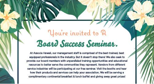 Board Member Success Seminar