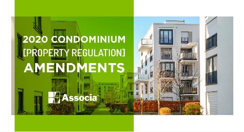 2020 Condominium Property Regulation Amendments