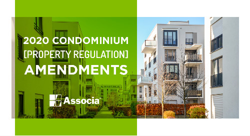 2020 Condominium Property Regulation Amendments