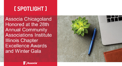 Associa Chicagoland Honored at the 28th Annual Community Associations Institute Illinois Chapter Excellence Awards and Winter Gala