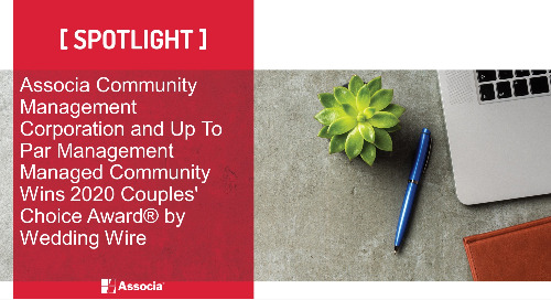 Associa Community Management Corporation and Up To Par Management Managed Community Wins 2020 Couples' Choice Award® by Wedding Wire