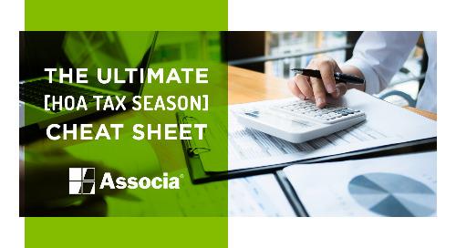 The Ultimate HOA Tax Season Cheat Sheet