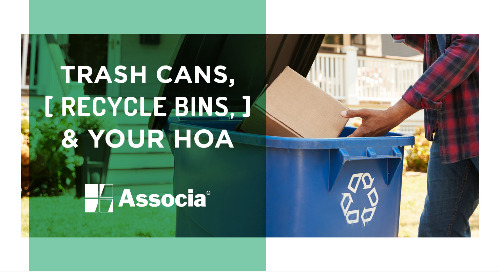Trash Cans, Recycle Bins, & Your HOA