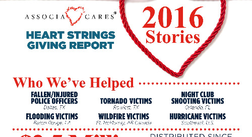 Infographic: Associa Cares 2016 Heart Strings Giving Report