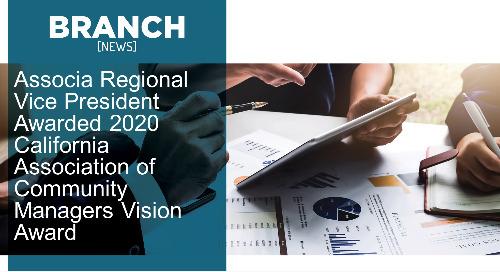 Associa Regional Vice President Awarded 2020 California Association of Community Managers Vision Award