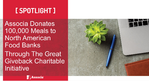Associa Donates 100,000 Meals to North American Food Banks  Through The Great Giveback Charitable Initiative
