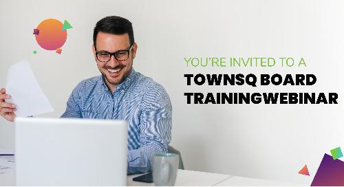 TownSq Board Training Webinar