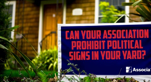 Can your Association Prohibit Political Signs in Your Yard?