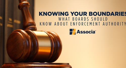 WEBINAR: Knowing Your Boundaries-What Boards Should Know About Enforcement Authority