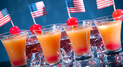 Patriotic cocktails that sparkle