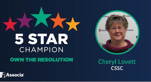 February 2021 5 Star Champion: Cheryl Lovett