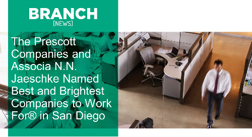 The Prescott Companies and Associa N.N. Jaeschke Named Best and Brightest Companies to Work For® in San Diego