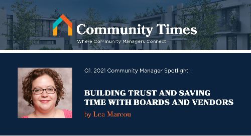 Building Trust and Saving Time with Boards and Vendors - By Lea Marcou