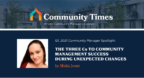 The Three Cs to Community Management Success During Unexpected Changes - By Malia Josue