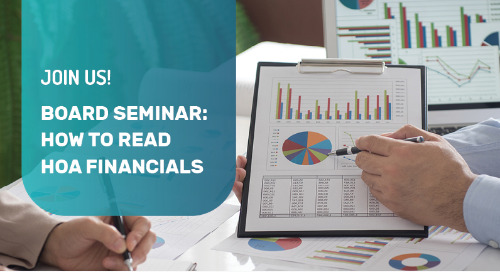 You're Invited: Board Seminar: How to Read HOA Financials