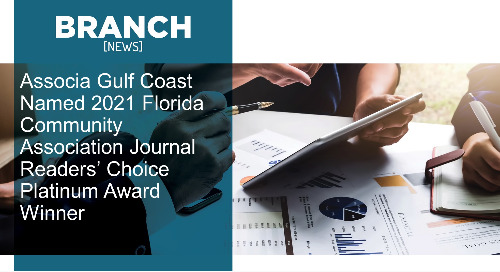 Associa Gulf Coast Named 2021 Florida Community Association Journal Readers' Choice Platinum Award Winner