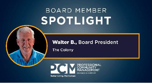 Board Member Spotlight: Walter B.