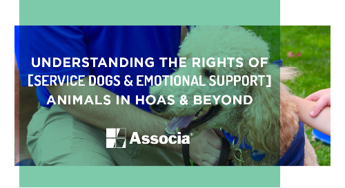 Understanding the Rights of Service Dogs & Emotional Support Animals in HOAs & Beyond