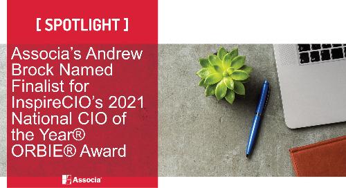 Associa's Andrew Brock Named Finalist for InspireCIO's 2021 National CIO of the Year® ORBIE® Award