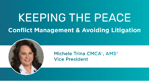 Upcoming Event: Keeping the Peace - Conflict Management & Avoiding Litigation