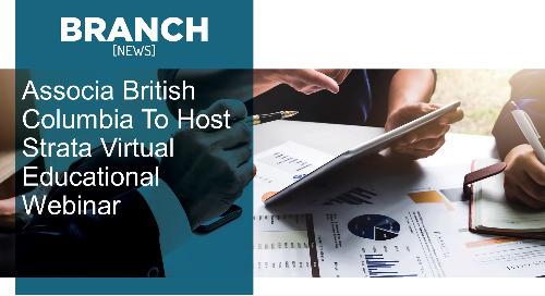 Associa British Columbia To Host Strata Virtual Educational Webinar