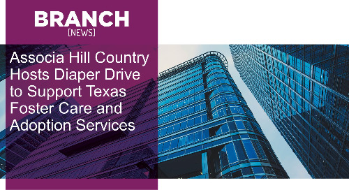 Associa Hill Country Hosts Diaper Drive to Support Texas Foster Care and Adoption Services