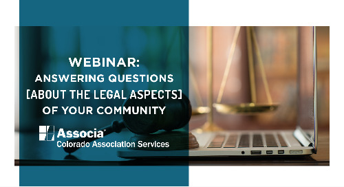 Webinar: Answering Questions About the Legal Aspects of Your Community