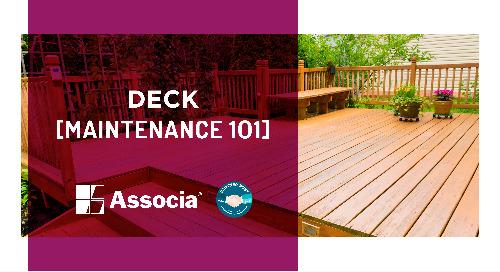 Partner Post: Deck Maintenance 101
