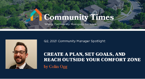 Create a Plan, Set Goals, and Reach Outside Your Comfort Zone - By Colin Ogg