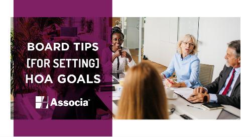 Board Tips for Setting HOA Goals