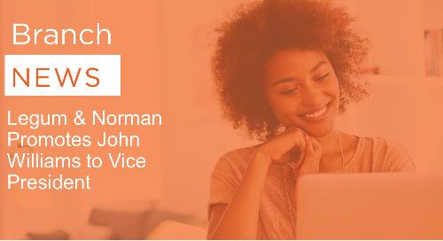 Legum & Norman Promotes John Williams to Vice President