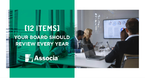 12 Items Your Board Should Review Every Year