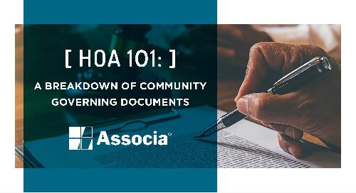 HOA 101: A Breakdown of Community Governing Documents