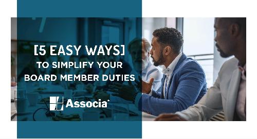 5 Easy Ways to Simplify Your Board Member Duties