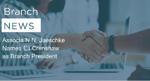 Associa N.N. Jaeschke Names Eli Crenshaw as Branch President