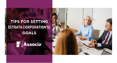 Tips for Setting a Strata Corporation's Goals