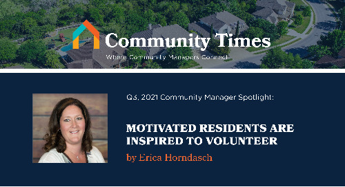 Motivated Residents Are Inspired to Volunteer - By Erica Horndasch