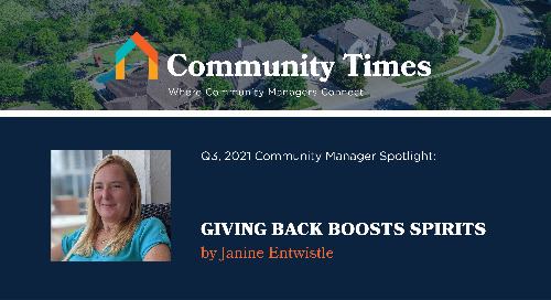 Giving Back Boosts Spirits - By Janine Entwistle
