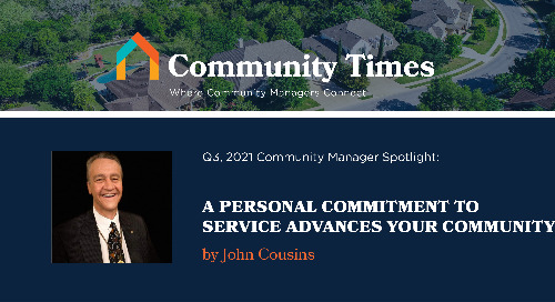 A Personal Commitment to Service Advances Your Community - By John Cousins