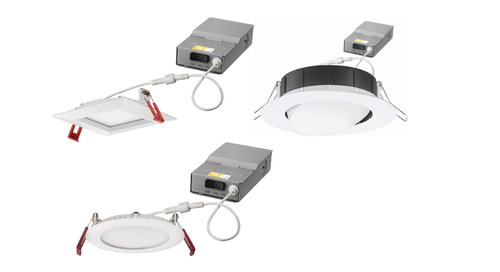 NEW! Lithonia Lighting® Wafer™ Adjustable LED Gimbals and Downlights with Switchable White Options Now Available