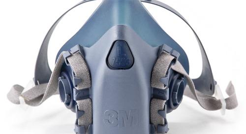 Wear it right: 3M™ Half Facepiece Reusable Respirator, 7500 Series