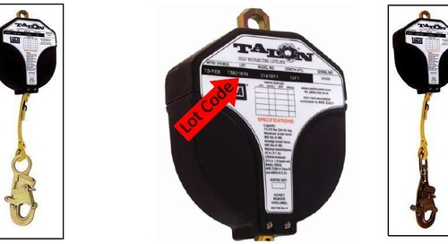 Recall Field Service Action: 3M™ DBI-SALA® 16 Foot Talon™ Self Retracting Lifeline