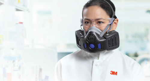 Cleaning and inspection: 3M™ Secure Click™ Half Facepiece Reusable Respirator, HF-800 Series