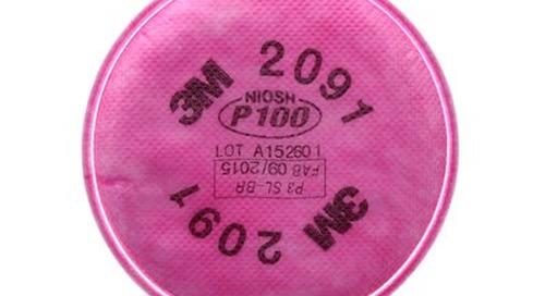 Filtre P100 2091 3M(MC) contre les particules.