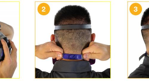 Portez-le correctement : Respirateur réutilisable à demi-masque Secure Click(MC) 3M(MC) de Série HF-800