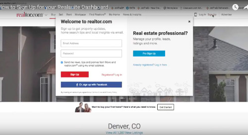 [Video] How to sign up for your Realsuite℠ Dashboard