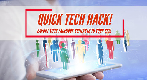 Quick tech hack! Export your Facebook contacts to your CRM