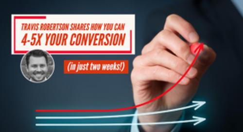 Travis Robertson's two-week lead conversion plan